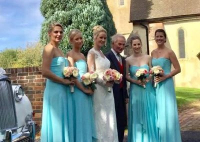 blue bridesmaid dresses Rebekahs bespoke tailoring
