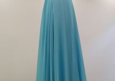 Blue rucing crystal dress