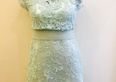 Green mint lace dress