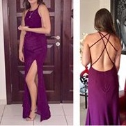 Maroon prom gown