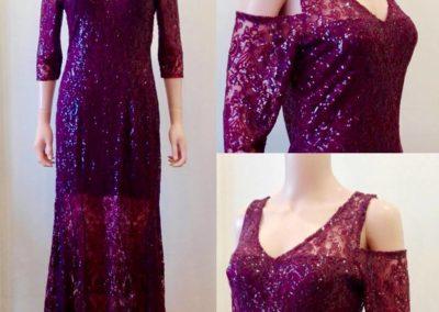 Maroon sequin dress