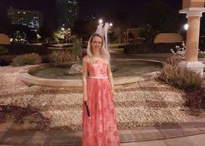 Peach annas dress