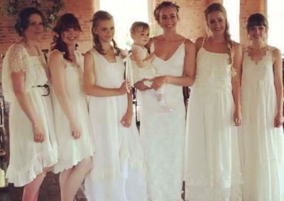 white-bridesmaid-dresses